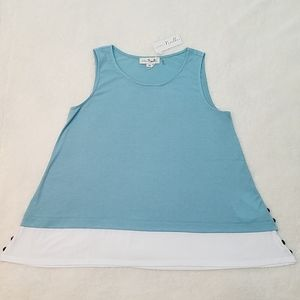 NWT Simply Noelle sample sleeveless tunic